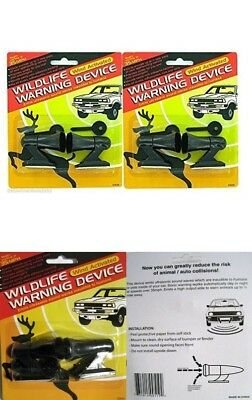 4 Ultrasonic Car Deer Warning Whistle 2 Pack Auto Safety Alert Device Safety NEW