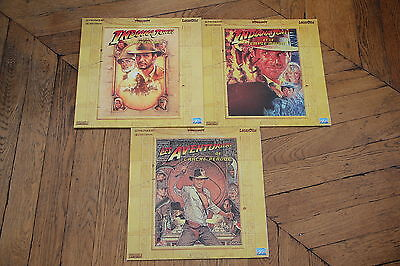 INDIANA JONES Trilogie Trilogy WS VF PAL LASERDISC LD Harrison Ford Sean Connery