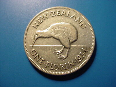 New Zealand - Silver - 1934 Florin In Very Nice Condition