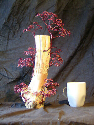Drahtbaum/ Skulptur/ Dekoration/ Bonsai Vitrine   Wire Tree Sculpture Decoration