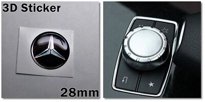 Mercedes-Benz 3D-Sticker Logo Multimedia buttons 28mm
