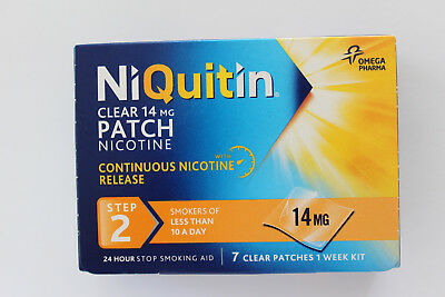 NiQuitin Clear 14mg Patch Nicotine Step 2 - 7 Patches (Orange Box)
