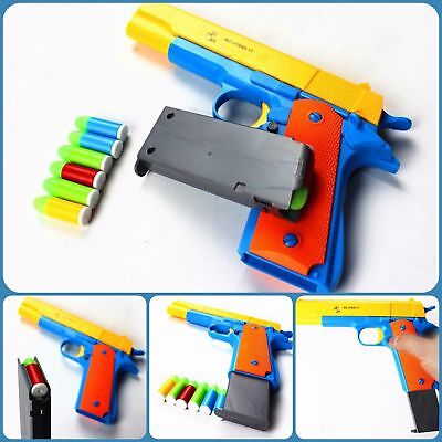 Classic Kids Toy Gun Pistol Nerf m1911 Kids Dart Guns With Soft Bullet