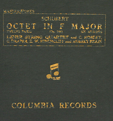 LENER STRING QUARTET u.a.,   Schubert: Octet in F Major Op.166   78RPM  A288