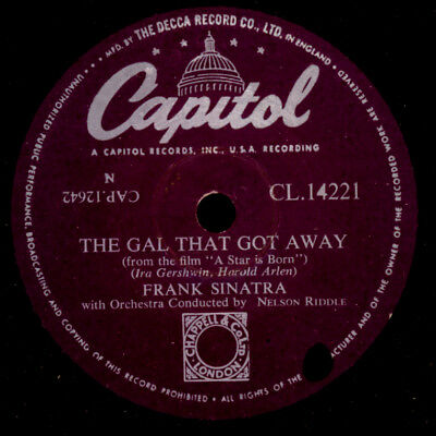 "FRANK SINATRA The Gal that got away ""A Star is Born"" SOUNDTRACK   78rpm S9839"