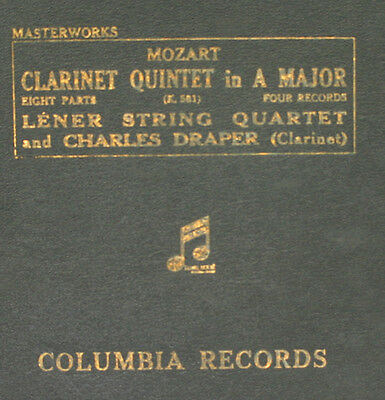 LENER STRING QUARTET & DRAPER -CLARINET- Mozart: Quintet A Major K.581   A290