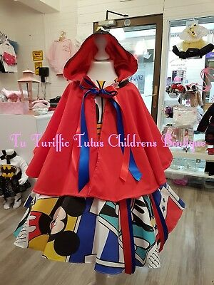 Girls Dress and cape Set with separate tutu underskirt age 13-16 years