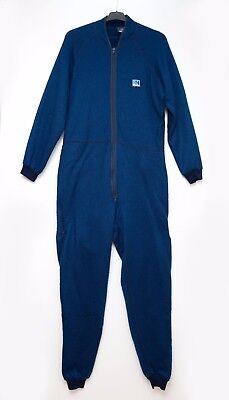 Mens Helly Hansen Ski Thermal Suit Base Layer Overall Blue Size L Large Exc