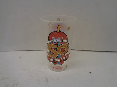 Qty = 300 Cups: AMC Icee 50th Anniversary Cup Clear 44 oz NO LIDS