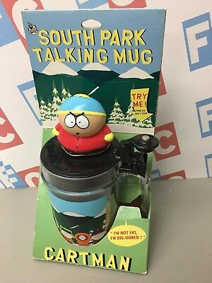 Comedy Central 1998 South Park Eric Cartman Talking Mug in Package Not Tested
