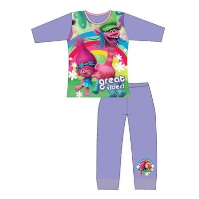 Girls Trolls Long Pyjamas Pjs Sleepwear 4 5 6 7 8 9 10 Years Months Kids Pajamas