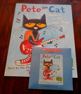 Pete The Cat Rocking In My School Shoes New Scholastic Listening Book With Cd