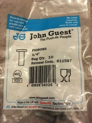 Sealey CAS28SC Straight Connector 28mm Pack of 5 John Guest Speedfit® - PM0428E