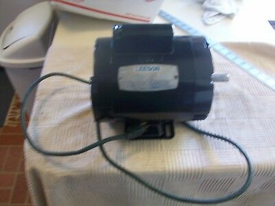 5/8 HP Leeson Electric Motor #A6C17DB6A 115 V 1725 RPM 1 Phase 9.8 amp 60 HZ