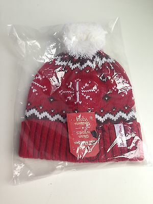 TIM HORTONS Knit Adult Winter Hat 2016 Men Women Pom Pom - NEW WITH TAGS