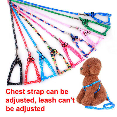 Small Dog/Cat/Pet Control Harness Step in Walk Collar Safety Strap Vest Leash