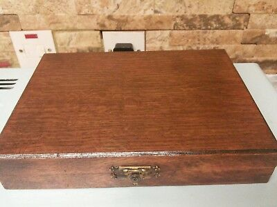 antique wooden box.     . lovely interior