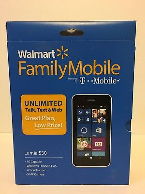 New Walmart Family Mobile T-Mobile Nokia Lumia 530 Windows Phone Factory Sealed