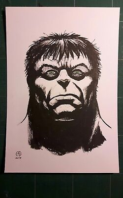 Incredible Hulk original artwork by Patrick Goddard Inktober series