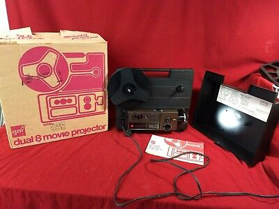 Vintage gaf dual 8 movie projector model 2588Z 8mm with original box WORKS!