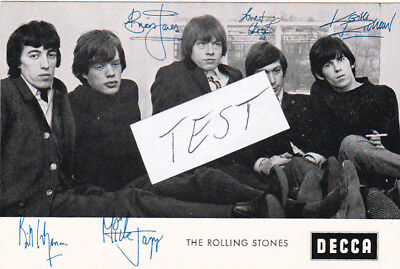 the Rolling Stones+Autograph