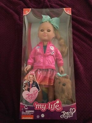 "My Life As JOJO SIWA 18"" DOLL Yorkie BOWBOW NEW NICKELODEON Walmart EXCLUSIVE"