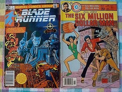 Sci-Fi Lot Of 2 Comics, Blade Runner #1 & Six Million $ Man #9 Fn+ Issues
