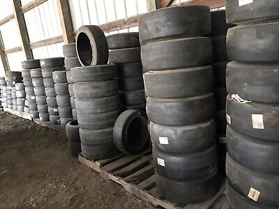 18X8X12.125 Solideal Smooth ForkLift Tire Press-On