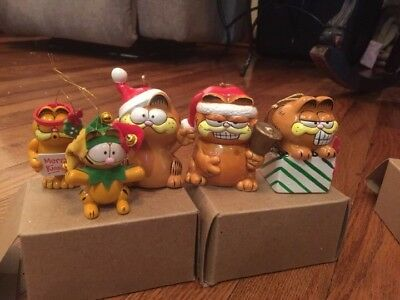 GARFIELD Christmas ornaments Lot Of 5