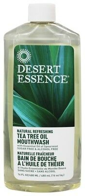 Desert Essence - Natural Refreshing Mouthwash Tea Tree Oil - 16 fl. oz.