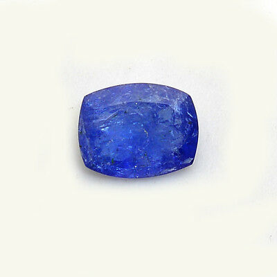 TOP QUALITY NATURAL 7 CTS CUSHION CUT TANZANITE Violet Blue~Certified Untreated