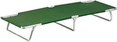 Sturdy Aluminum Camping Cot with Olive Green Nylon Material