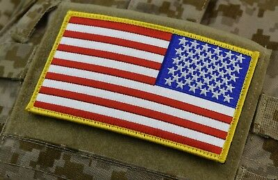 """Large 3""""x5""""  REVERSE AMERICAN FLAG PATCH USA ARMY SOCOM CAG SEAL NSW NSWDG"""