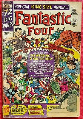 Fantastic Four 3 Special King Size Annual Silver Age 1965 Wedding of Sue & Reed