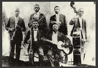 """1905 RAG TIME, JAZZ BAND BUDDY BOLDEN PHOTO, Music History, NEW ORLEANS, 16""""x11"""""""