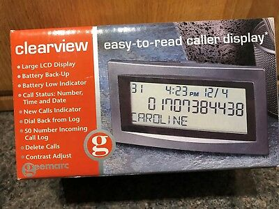 Clearview caller display Telephone Phone Large Screen Easy to Read Boxed Xmas