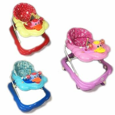 Baby Walker First Steps Activity Bouncer Musical Toy Push Along Ride On Duck New