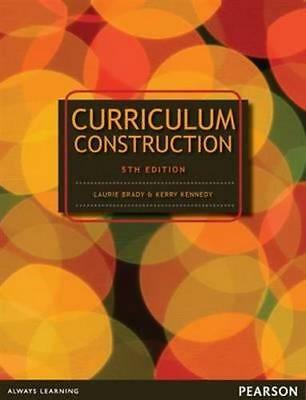 NEW Curriculum Construction By Laurie Brady Paperback Free Shipping