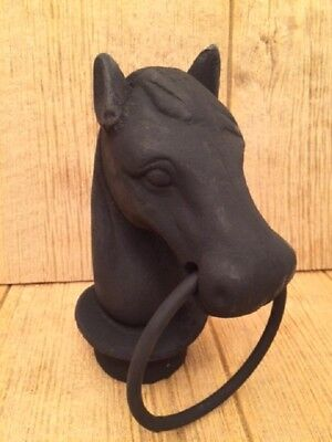 "Horse Head (With Slight Flaws) Cast Iron 8 1/2"" tall Yard Decor 0170S-11617"