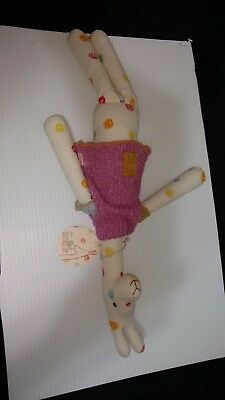 Maileg Giraffe with multi-colored splotches with TAGS