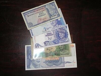 Malaysia 9 Ringgit including Pick #1 + Yugoslavia Replacement note – Free Ship