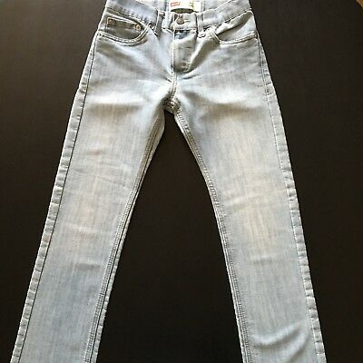 LEVI'S 511 Boy's Jeans Size Youth 12 Reg Slim Fit Light Wash Denim