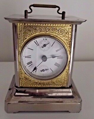 Antique Carriage - Musical - Alarm Clock / Made In Germany / Working !