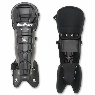 "Baseball Umpire's Leg Guards; 12"" Shin Plate; Fully Padded Ankle & Instep"