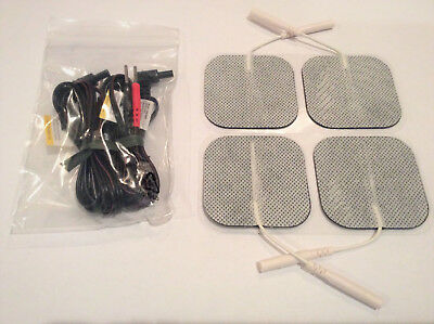 40 Extra Sticky Pads Electrodes for TENS / EMS with replacement wires