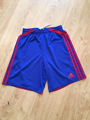 Youth XL Adidas Clima365 Climacool Blue/Red Running Athletic Track Shorts