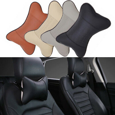 Car Seat Headrest Pad Memory Foam Leather Head Neck Rest Cushion Pillow Support