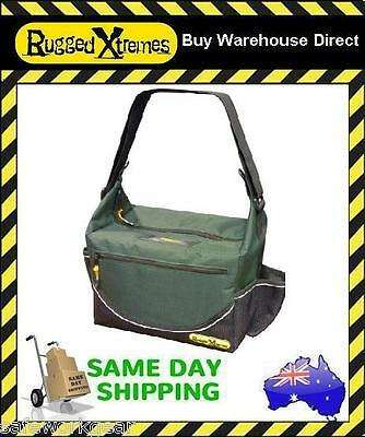 Rugged Xtremes Green Canvas Insulated Crib Lunch Bag Work Storage extremes