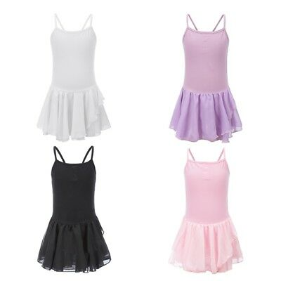Baby Girl Kids Camisole Ballet Dance Tutu Dress Skate Dancewear Leotard Bodysuit