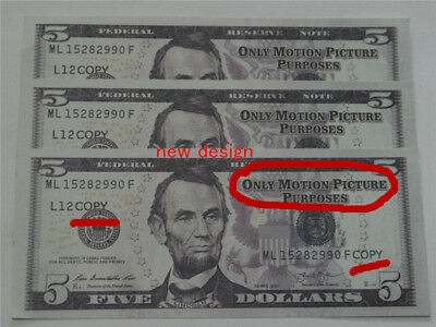 $5 USD New design props Paper money, high quality video props 100pcs